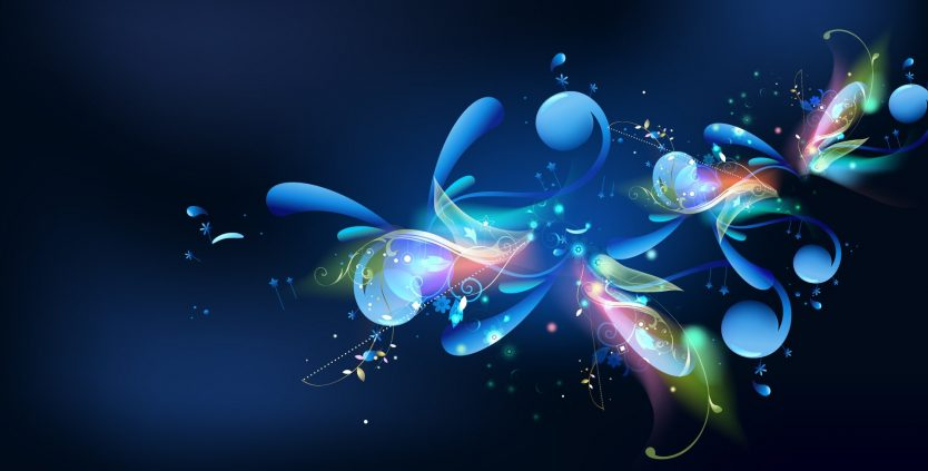 blue-background-colorful-flower-1920x1200